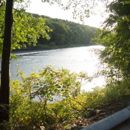 The Delaware River as seen from Route 97