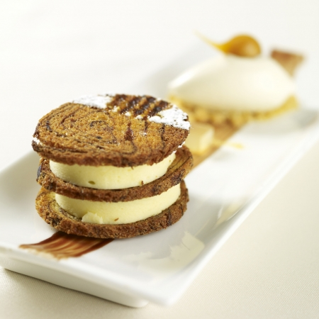 Citrus and Cocoa Mille Feuille